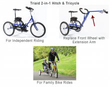 Triaid 2-in-1 Hitch & Tricycle